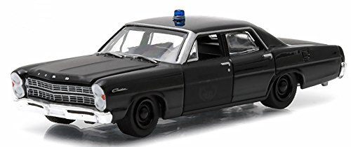 Greenlight 1/64 1967 Ford Custom Black Bandit Police Car - 1