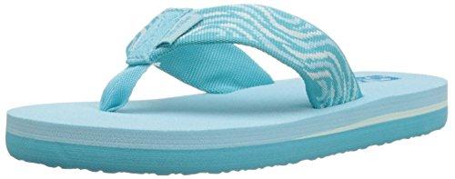 Teva Mush II Fashion Flip Flop Sandal (Toddler/Little Kid/Big Kid), Tides/Scuba Blue-T, 3 M US Little Kid (Flip Flops Kids compare prices)