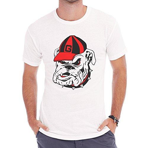 University Of Georgia Bulldogs Logo T Rex College Football Medium Uomini T-Shirt