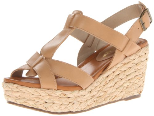 Nomad Women'S Sea Breeze Wedge Sandal,Tan,8 M Us front-639399