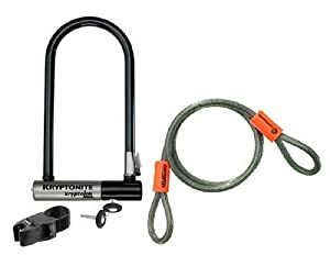 kryptonite kryptolok series 2 standard bicycle u lock 4 inch x 9 inch with 4 foot. Black Bedroom Furniture Sets. Home Design Ideas
