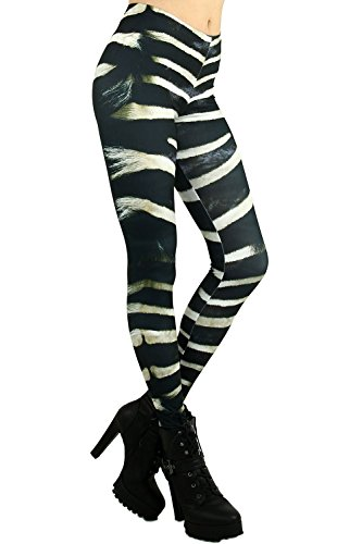 World of Leggings® Zebra Stripe Leggings - One Size