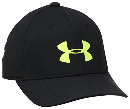 Under Armour Headline - Cappello da ragazzo, elastico, Nero (Black/Hvy/Hvy), S/M