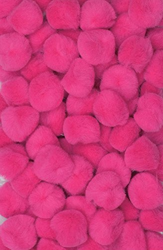 "Creativity Street Pom Pons 100-Piece x 1/2"" Hot Pink"