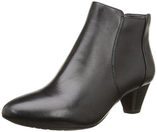 Clarks Denny Diva - Stivaletti Donna, Nero (Black Leather), 38 EU
