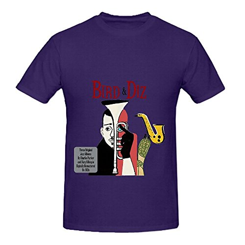 Charlie Parker Bird And Diz Hits Mens O Neck Big Tall Shirt Purple (Old Navy Rock Star compare prices)