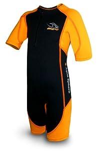 Aqua Sphere Stingray Schwimmanzug Neopren für Kinder schwarz/orange S-104- 4 Jahre