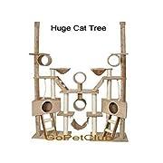 Go Pet Club Cat Tree Condo Furniture 106-Inch Beige