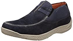 Redchief Mens Navy Blue Leather Trekking and Hiking Footwear Shoes - 8 UK/India (42 EU) (RC3076)