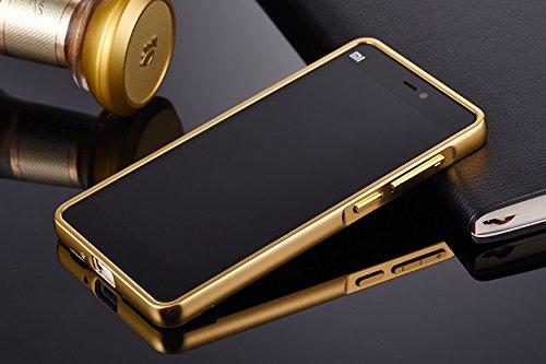 cheap for discount cdba0 31dd5 JMV Xiaomi Mi4i Case, JMV Luxury Metal Bumper Acrylic Mirror Back Cover  Case For Xiaomi Mi4i - Gold Plated