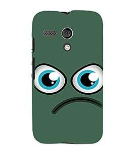 EPICCASE angry smiley Mobile Back Case Cover For Moto G (Designer Case)