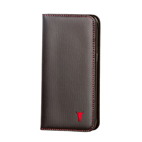Galaxy S7 Edge Case. Leather. Premium Black Italian Leather Stand Case for Samsung Galaxy S7 Edge by TORRO (Leather Edge Case compare prices)