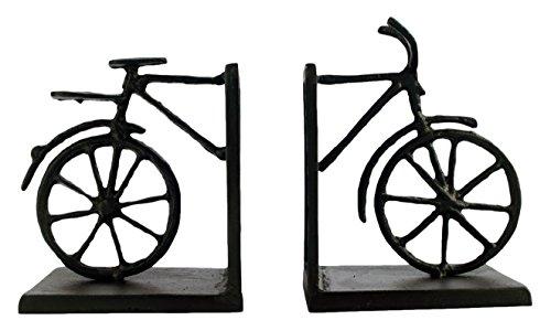 Elur Bicycle Iron Book Ends, Mocha, 15 cm