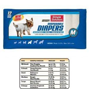 Bramton Company Simple Solution Disposable Diapers Bram Disp Diapers 12Pk Medium Clothing & Apparel