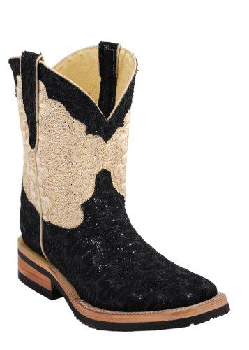 ferrini western boots womens cool bling 6 b black