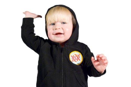 ZAMFORIA Unisex-Baby Love Ambigram Hoodie Black 18-24 Month