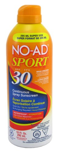 No-ad Spf#30 Continuous Spray Sunscreen Sport 254 ml Super-size