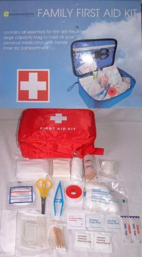 FAMILY FIRST AID KIT RED 60 PIECE CROSS