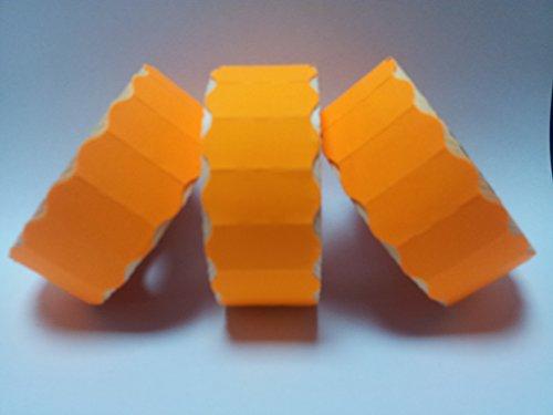 CT426mm x 12mm Prix Étiquettes Pistolet-Orange fluo pelables-30rouleaux/45000étiquettes