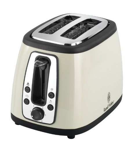 Russell Hobbs 2 Slice Toaster, Cream front-538565