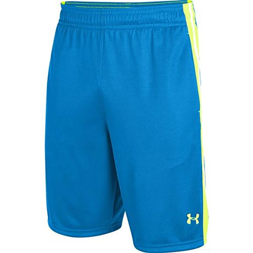 Under Armour Mens UA Aint Nuttin Basketball Shorts (BLUE/HI-VIS YELLOW, M)