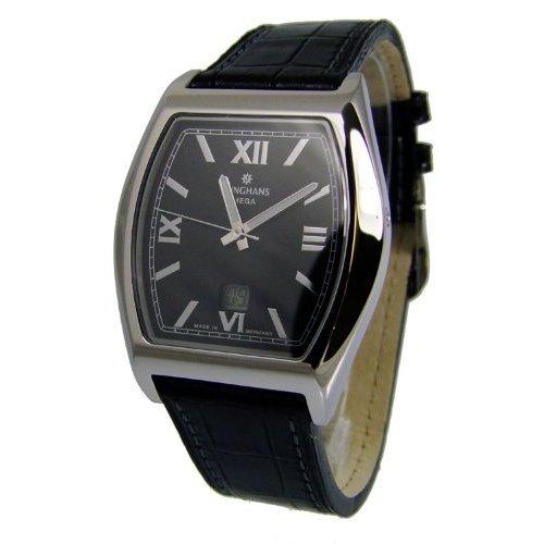 Junghans 055/4350.00 - Reloj para hombres, correa de cuero color negro
