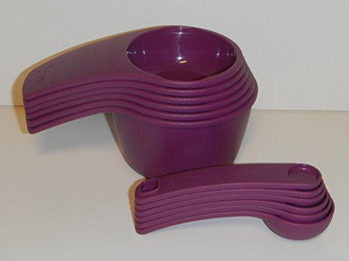 Tupperware Measuring Cup and Spoon Set in Purple (Tupperware Measuring Spoons compare prices)