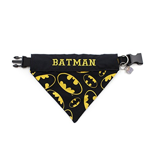 happypettag Pet Bandana - Personalized Pet Bandana Batman Dog Bandana Dark Knight Cat Bandana Handmade Pet Scarf Personalized Dog Collar Dog (Dog Batman)