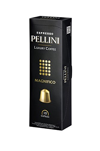 Pellini Luxury Coffee Magnifico Nespresso Compatible Capsules (Pack of 2, Total 20)