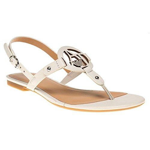 Armani Jeans Thong Sandal Donna Sandalo Bianco