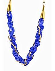 Tribal Zone Choker Necklace For Women (Blue) (NK369)