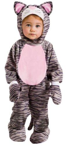 Little Striped Kitten Costume - Baby Cat Costume (12-24 months with Bracelet for Mom) (Kids Kitten Costume)