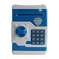 Money Safe Password Coin Piggy Kiddy Savings Bank (Blue)