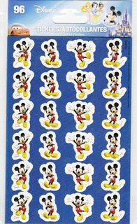 96 Mickey Mouse Stickers Tri-coastal Design 4 Sheets - 1