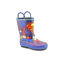 Warner Bros Superman SUS500 Rain Boot (Toddler/Little Kid),Blue,8 M US Toddler