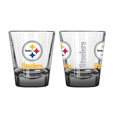 NFL Pittsburgh Steelers Elite Shot Glass, 2-ounce, 2-Pack