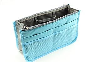 NOV@GO® (version originale qualité assurée) Organisateur/Pochette/sac de rangement intérieur Bleu pour grand sac à main ou sac de voyage (existe aussi en Orange/rouge/vert/bleu ans notre boutique)