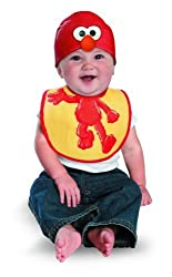 Disguise Costumes Drool Over Me Sesame Street Elmo Infant Bib And Hat Accessory By Disguise Costumes
