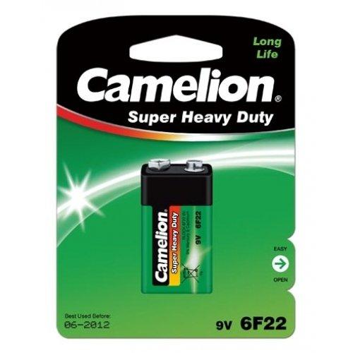 Camelion piles super heavy duty 9 v (6F22), 10 sous blister, alcaline 9 v