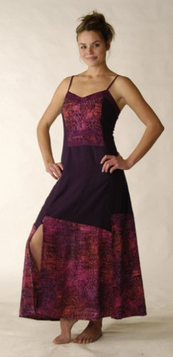 Lace Back Batik Combo Dress