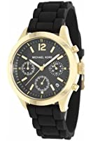 Michael Kors MK5408 Women's Jet Set Black Silicone Strap Chronograph Watch