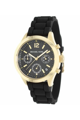 Michael Kors MK5408 Women's Jet Set Black Silicone Strap Chronograph Watch