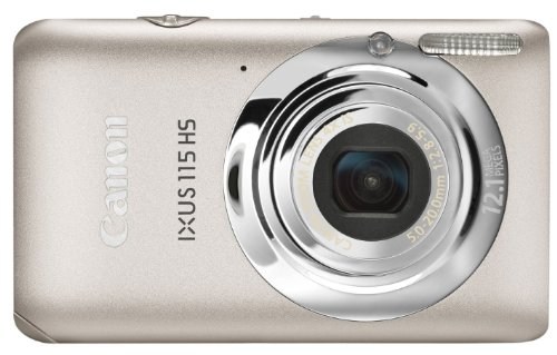 Canon IXUS 115 HS Digital Camera - Silver (12.1MP, 4x Optical Zoom) 3.0 inch LCD