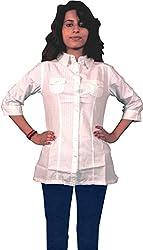 Miraaya Women's Top (White, XS)