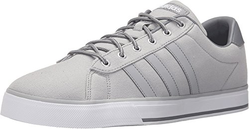 Adidas NEO Men's Daily Lifestyle Skateboarding Sneaker,Clear Onix/White,9.5 D - Medium