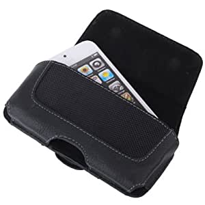 Coque/housse/etui ceinture en simili cuir effet grené pour iPhone 4 ou iPhone 5/5S/5C