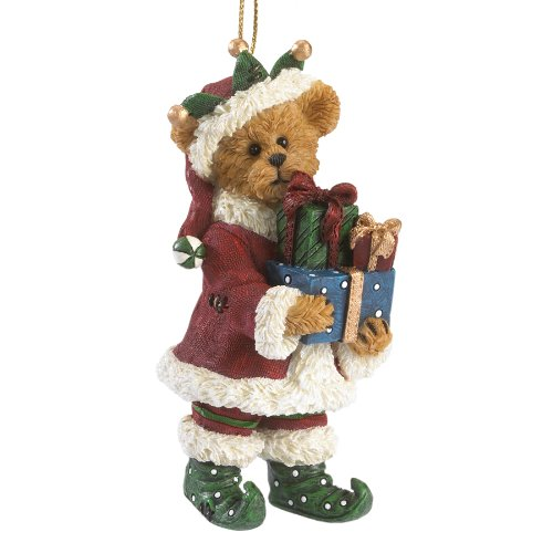 Boyds Resin Ho Elf With Presents Ornament
