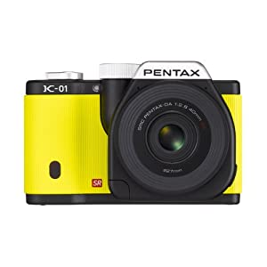 Pentax K-01 16MP APS-C CMOS Compact System Camera with Dual Lens Kit 18-55mm, 50-200mm (Yellow)