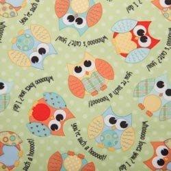 "Babyville Waterproof Diaper Fabric 64"" Wide 8Yd D/R-Pul Playful Friends Owls front-59778"