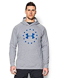 Under Armour Men\'s Freedom Hoodie, True Gray Heather, Large
